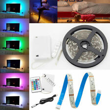5mtr LED STRIP LIGHTS TV SHOP Kitchen Cupboard RGB Color Changing Remote Control