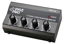 New Pyle PHA40 4 Channel Stereo Headphone Amplifier DJ Pro Audio