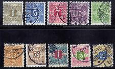 Denmark P1-P10 Used 1907 Perf 13 Newspaper Stamps Set C V $151.75