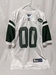 New York Jets Mens Size Medium White Green Onfield #00 NFL Equipment Jersey