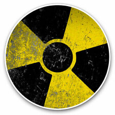 2 x Vinyl Stickers 7.5cm - Radioactive? Warning Nuclear Chernobyl Cool Gift #895