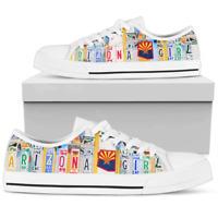 Arizona Girl Women's Low Top Shoes - Arizona Girl Custom Canvas Shoes - US Size