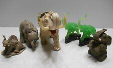 Lot Of 6 Small Elephant Figurines