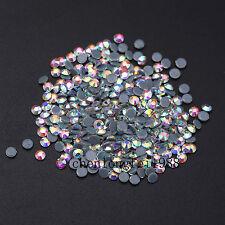 Crystal AB Iron On Hotfix Rhinestones Hot Fix Flatback White Clear Strass Stones