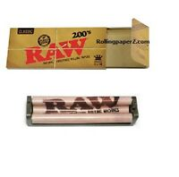 RAW 200's Classic King Size Slim FLAT PACK - Rolling papers + 110mm ROLLER