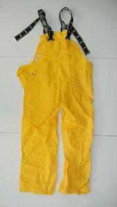 HELLY HANSEN WORKWEAR Yellow Polyvinyl RAIN BIBS Hike Sailing Work Pants Men's M