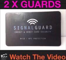 2 x blocchi di guardia del segnale wireless illegale lettori di carte di credito (ID tenere al sicuro)