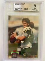 1992 Stadium Club High #'s BRETT FAVRE #683, 1st Packers Card, HOF  BGS 9