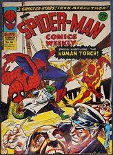 Spider-Man Comics Weekly #94-British-Iron Man Vs Black Widow & Hawkeye-1974-Thor