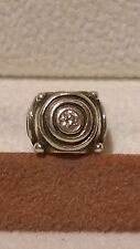 GENUINE PANDORA Sterling Silver 925ale Clear Circles Charm 790120cz