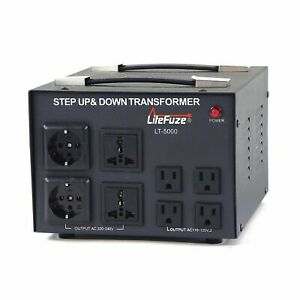 LiteFuze 5000 Watt Voltage Transformer Converter Step UP/Down(LT-5000UD)