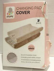 ECORE Plush Unisex Changing Pad Cover - 2pk *Damaged Packaging*