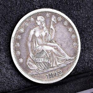 1842 Liberty Seated Half Dollar - Medium Date - VF (#36214)