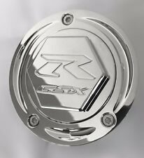 04-17 GSXR 600/750/1000 Hayabusa Chrome Engraved Smooth 3D Hex Fuel Lid Gas Cap!
