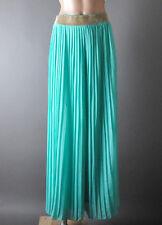 Mint Green Casual Rhinestone Stretch Long Wide Leg Palazzo Loose Pant Trousers L