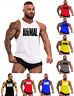 Men GYM Muscle Workout T-Shirt Bodybuilding Tank Top Animal Pattern Printed Vest