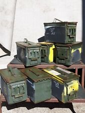 Genuine Surplus NATO 50Cal Ammo Box Metal Strong Military Ammunition Crate