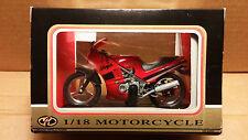 Motormax Die-Cast 1/18 Scale Red Kawasaki Ninja Sport Bike Motorcycle replica