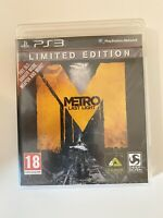 METRO - LAST LIGHT - LIMITED EDITION - SONY PLAYSTATION 3 PS3 GAME