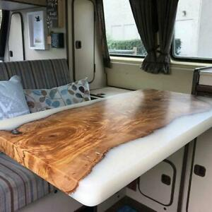 Live Edge Wooden Table, Epoxy Table, Epoxy Resin River Table, Natural Wood