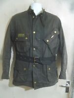 BARBOUR A7 INTERNATIONAL SUIT WAXED MOTORCYCLE JACKET SIZE C40 102CM