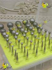 50 x THK Diamond coated rotary point burrs burs bits 1mm - 12mm BALL shape drill