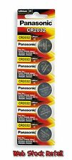Pack of 5 Original Panasonic CR2032 Original Lithium Coin Cell Battery +GST Bill