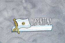 Patch Country Flag Sew On Iron On Jacket Shirt or Pants Argentina Color