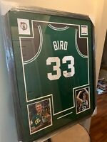 Larry Bird Authentic Autograph Framed Jersey DEAL!!  Celtics COA Beckett NBA