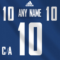 Vancouver Canucks Adidas Jersey Custom Any Name Any Number Pro Lettering Kit