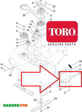 NUOVO-ORIGINALE TORO Timemaster 20199 20975 20976 Braccio Staffa del freno 120-6242-568 V