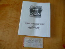 """The Musical Box""  Program Souvenir Tour + 1 ticket stub."