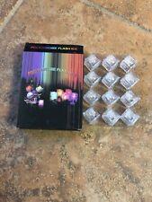 LED Light Ice Cube Luminous FLASHING  COLOR CHANGE CUBES PARTY  12 pcs Set