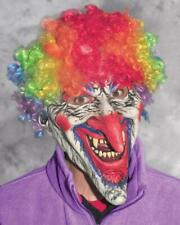 Clown Mask Dastardly Rainbow Afro Long Nose Ugly Creepy Halloween Costume M9014