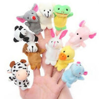 10 Pcs Family Finger Puppets Cloth Doll Baby Educational Hand Toy&Cartoon Animal