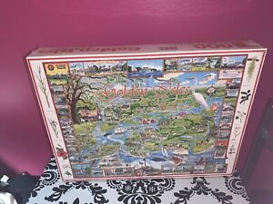 NEW SEALED VTG WHITE MOUNTAIN PUZZLES GOLDEN ISLES OF GEORGIA 1000 PIECE JIGSAW