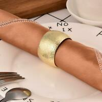 6/12Pcs Serviette Napkin Rings Holder Buckle Dinner Towel Wedding Party Decor
