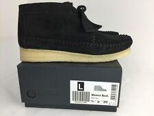 Clarks Wallabee Weaver Women Black Suede Water Resistant Boots Size UK 5.5 EU 39