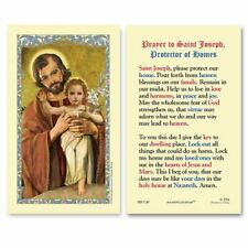 25 Laminated Holy Cards Saint Joseph Protector of Homes with Infant Jesus