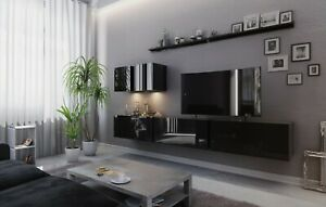 Modern Living Entertainment Wall Unit TV Stand BOXING 7 Gloss - 2 Colours