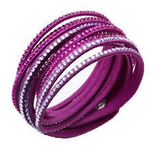 Crystal Closure Cuff Rhinestone Slake Purple Bracelet Swarovski Element