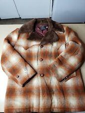 VTG 70s 80s Sir Jac Plaid Sherpa Barn Hunting Chore Jacket Coat Mens 44 Rare