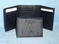 ARIZONA WILDCATS    Leather TriFold Wallet    NEW    black 3  m3