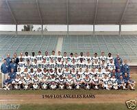 1969 LOS ANGELES RAMS NFL FOOTBALL 8x10 TEAM PHOTO GABRIEL SNOW DEACON JONES