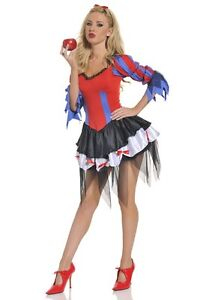 Womens Ringmaster Costume Sexy Circus Clown Magician Ring Master Fancy Dress S M