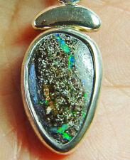 "23 carat Koroit boulder opal pendant in sterling silver, 6.2 grams, 1 1/2 x 1/2"""
