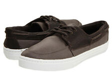 NEW QUIKSILVER SURFSIDE CANVAS SHOES MENS 14 BROWN FREE SHIP