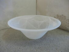 30cm WHITE BOWL Replacement Glass Shade  for uplighter lamp or pendant fitting