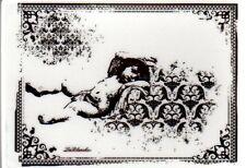 New LA BLANCHE Silicone Rubber Stamp Angel Cherub in frame free USA ship