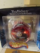 Hot Wheels Holiday Decoration Red Bulb with Radio Flyer Purple